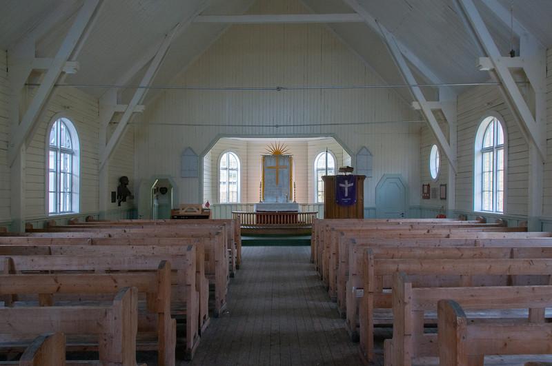 Inside the Norwegian Church in Grytviken, South Georgia Island