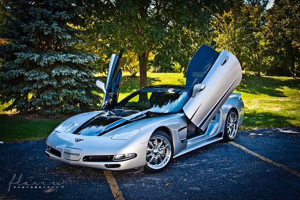 Shockwave Silver Corvette