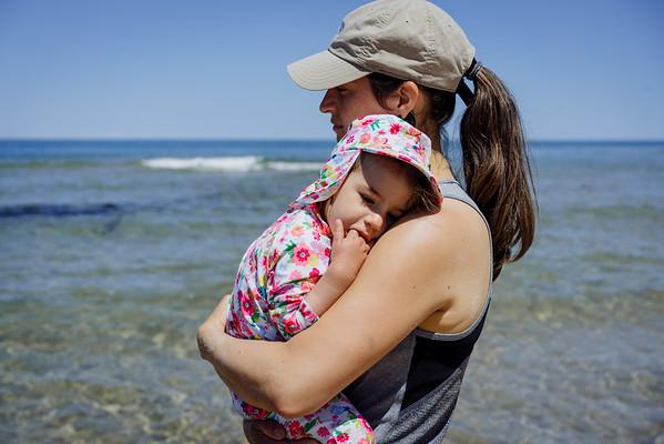 La plage ça épuise un bébé!
