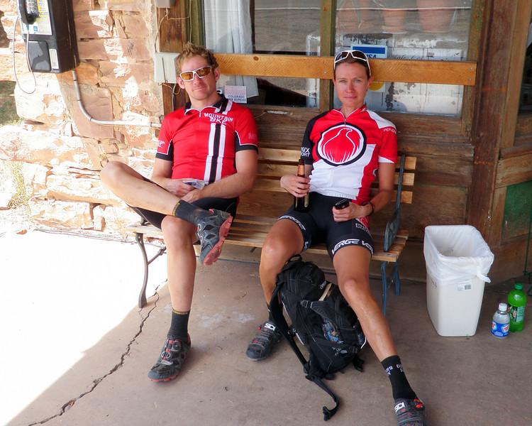 Day 5 Doug and Jo Enjoying Cream Soda