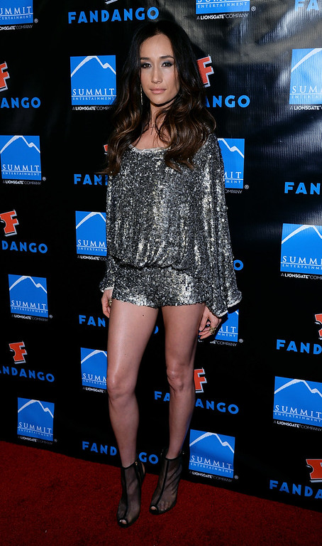 """. Actress Maggie Q arrives at Summit Entertainment\'s press event for the movies \""""Ender\'s Game\"""" and \""""Divergent\"""" at the Hard Rock Hotel San Diego on July 18, 2013 in San Diego, California.  (Photo by Ethan Miller/Getty Images)"""