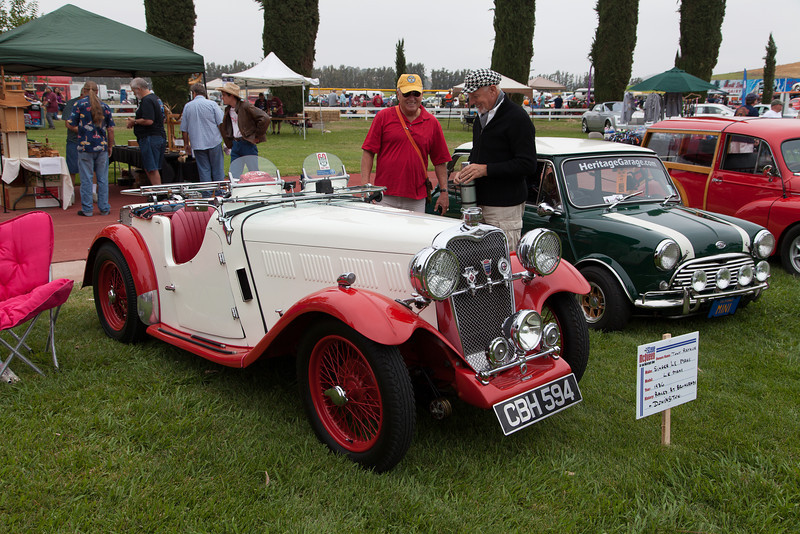 Tony Raynor and his 1936 Singer Le Mans - raced at both Brooklands and Donington.