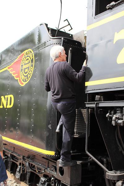 Alex Trebek visits the Western Maryland Scenic Railroad in Cumberland & Frostburg Maryland