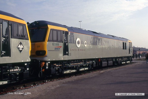 1994, 15th October, Crewe Electric Depot open day