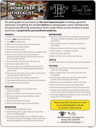 Home Prep Checklist