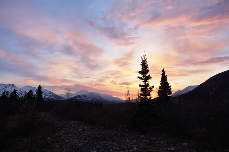 Sunset in the Alaska Range