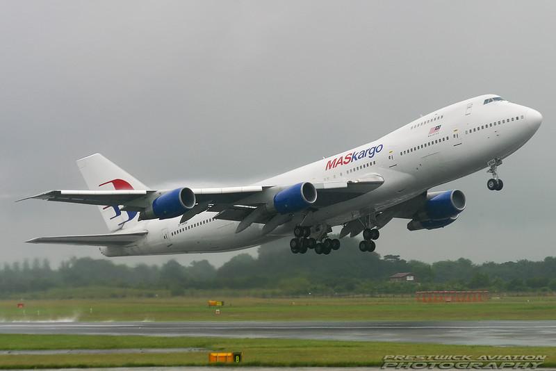 TF-ARM. Boeing 747-230B(SF). MAS Cargo. Manchester. 170704.
