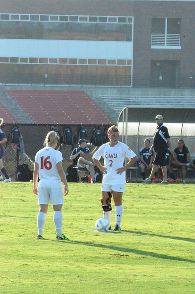 Arielle McCarthy Crum-Ewing (2) and Shelby Hooe (16) wait patiently for the whistle from the referee.