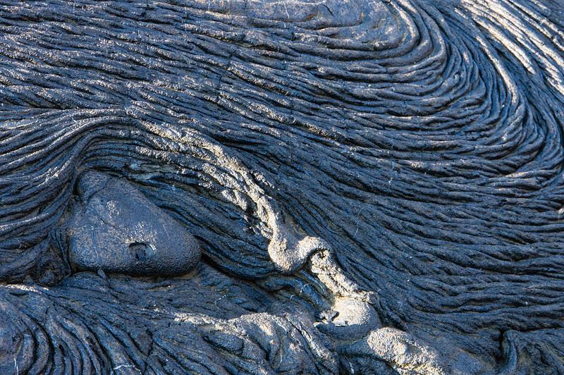 Pahoehoe Lava on Santiago Island