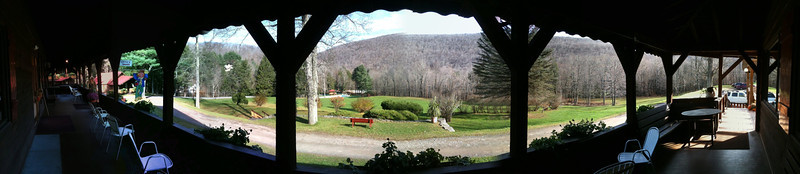 Panoramic photo taken with the iPhone from the front porch of the Alpine Inn.
