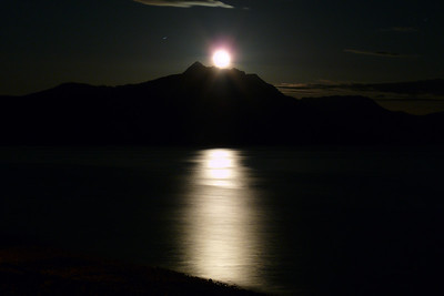 Super Moon Rising (one day later) March 2011, Cynthia Meyer, Tenakee Inlet, Alaska