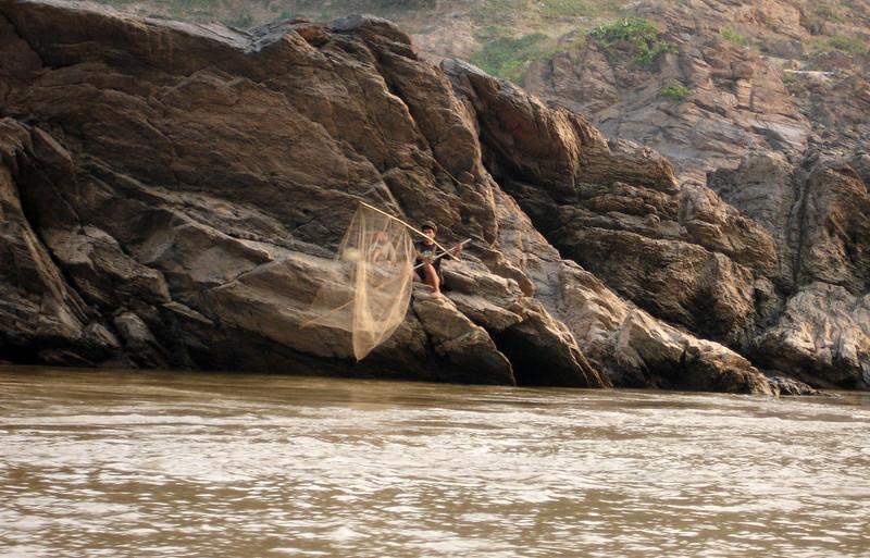net fishing along the Mekong