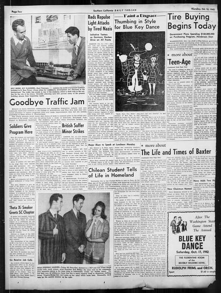 Daily Trojan, Vol. 34, No. 20, October 15, 1942