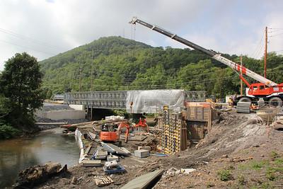 Center Street, Bridge Construction, SR309, Tamaqua (8-27-2012)