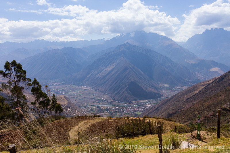 First view of the Sacred Valley