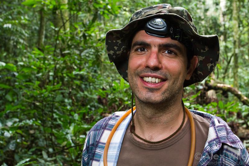 Paco Hita-Garcia (California Academy of Sciences) at Ant Course 2012 in Uganda.
