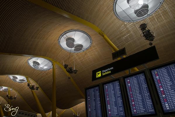 Barajas Airport Departures. Madrid, Spain