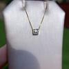 .70ct French Cut Diamond Bezel Pendant, 18kt Yellow Gold 14