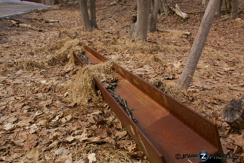 An old rusted I beam