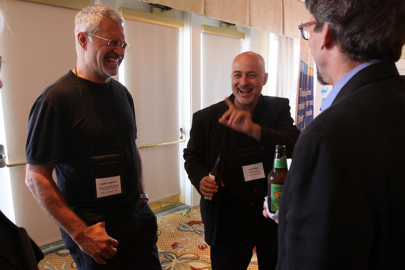 """(L-R) Louie Psihoyos, Director and Filmmaker, """"The Cove""""; David Brin, Author and Physicist; and Russ Daggatt, Founding Partner, Denny Hill Capital"""