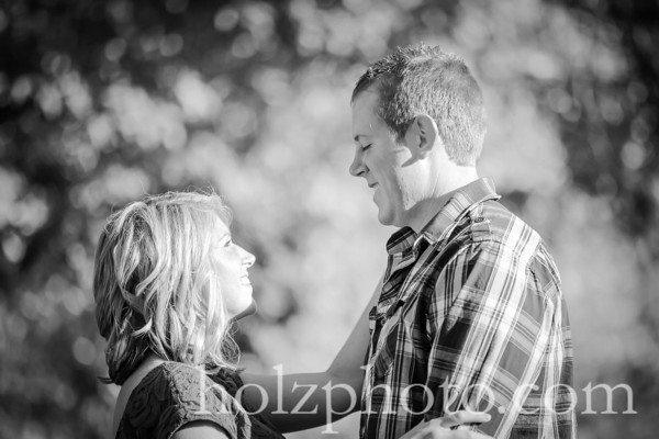 Paige & Andrew B/W Engagement Photos