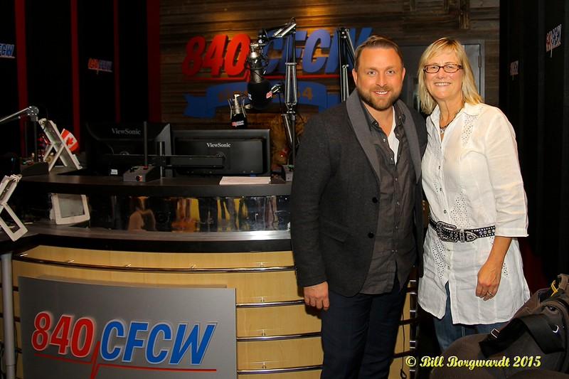 Johnny Reid & Jackie Rae at CFCW 015