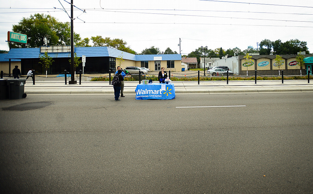 . Walmart\'s community outreach efforts were on display at St. Paul Open Streets. (Pioneer Press: Ben Garvin)