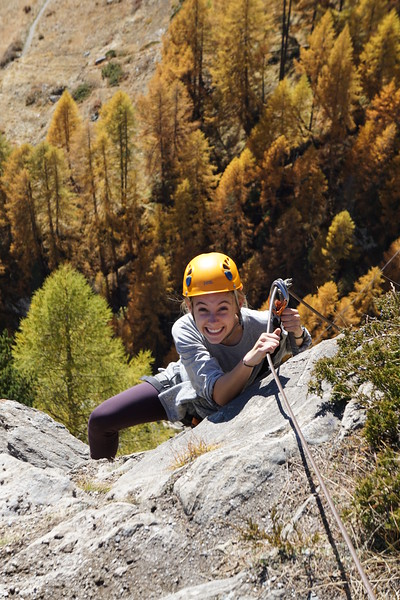 Lilli caught by surprise on the Via Ferrata