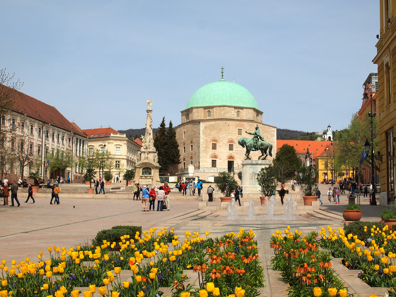 Square in Pecs, Hungary