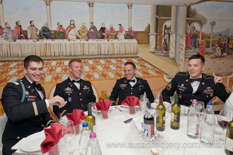 """09 DEC 2011 (Vicenza, Italy) Sky Soldiers of the 2D Battalion (Airborne), 503D Infantry (""""The Rock"""") were able to enjoy their rare time off, during the unit's 2011 Winter Ball.  The event was held at Hotel Villa Pigalle, 40 minutes north of Vicenza."""