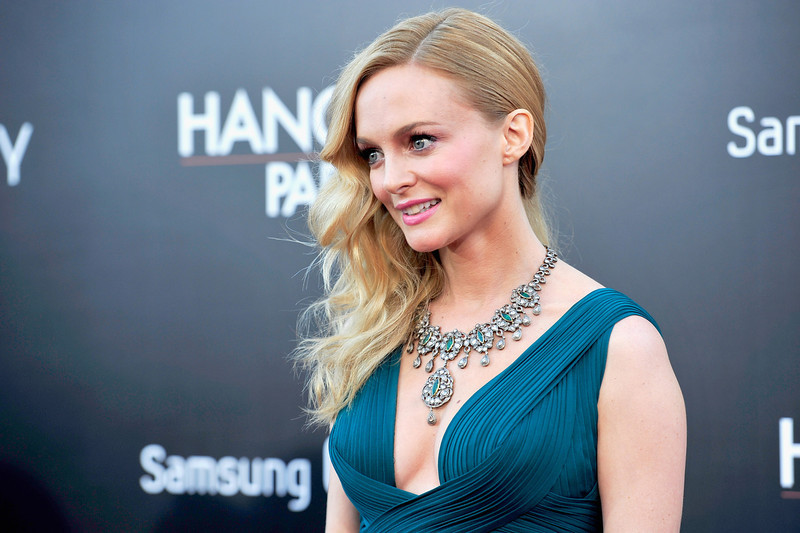 """. Actress Heather Graham attends the premiere of Warner Bros. Pictures\' \""""Hangover Part 3\"""" at Westwood Village Theater on May 20, 2013 in Westwood, California.  (Photo by Frazer Harrison/Getty Images)"""