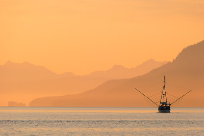 Going Fishing at Sunrise August 2013, Cynthia Meyer, Tenakee Springs, Alaska