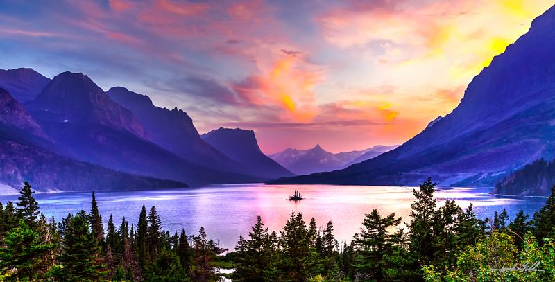 Sunset in Glacier