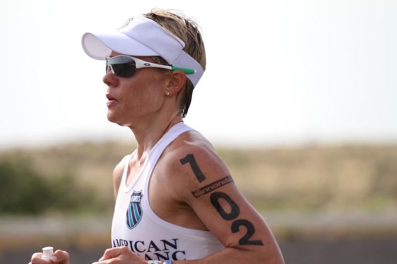 Mirinda Carfrae on the home stretch of the run.