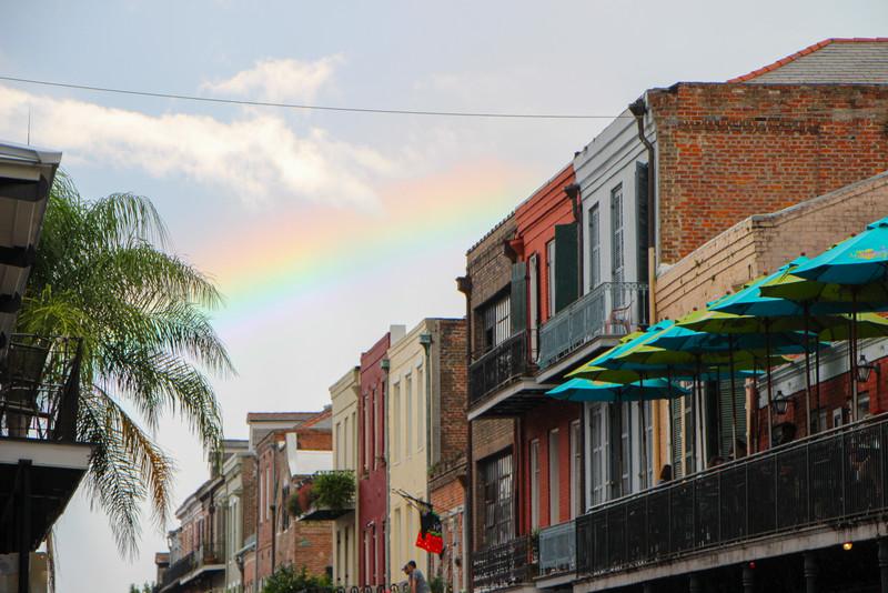 Rainbow over Decatur Street