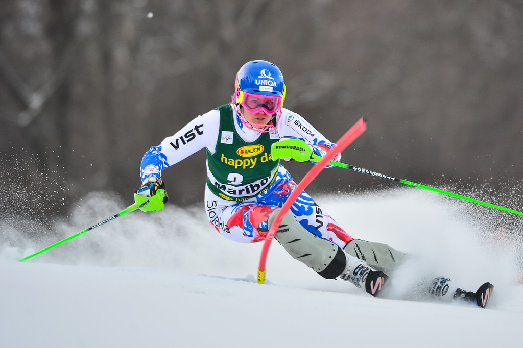 . Veronika Velez Zuzulova of Slovakia competes during first run of the FIS women\'s World Cup slalom in Maribor on January 27, 2013.       Jure Makovec/AFP/Getty Images