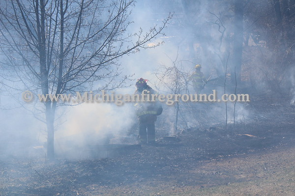 3/22/21 - Meridian Twp grass fire, 2266 Knob Hill Dr