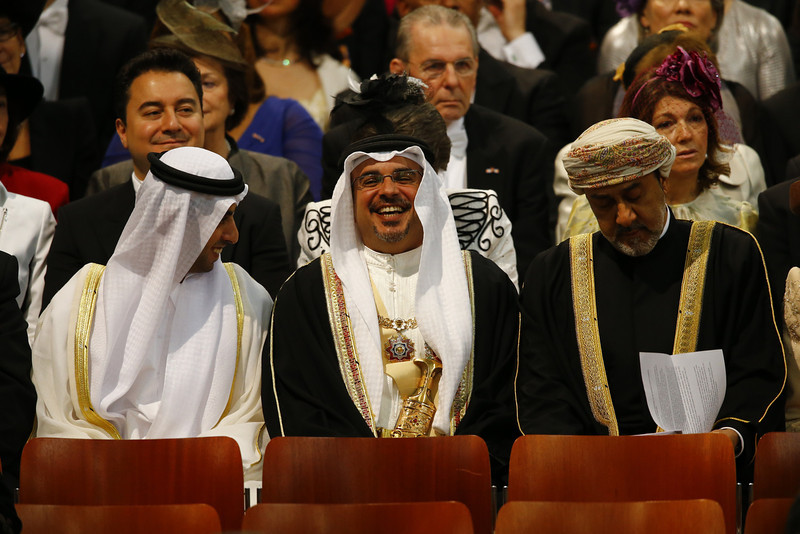 . Emirati businessman Sheikh Hamed bin Zayed al Nahyan (L) attends the inauguration of HM King Willem Alexander of the Netherlands and HRH Princess Beatrix of the Netherlands at New Church on April 30, 2013 in Amsterdam, Netherlands.  (Photo by  Michael Kooren-Pool/Getty Images)