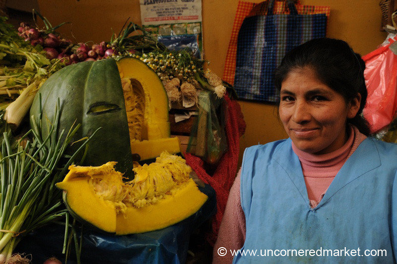 A Giant Squash for Sale - Huancavelica, Peru