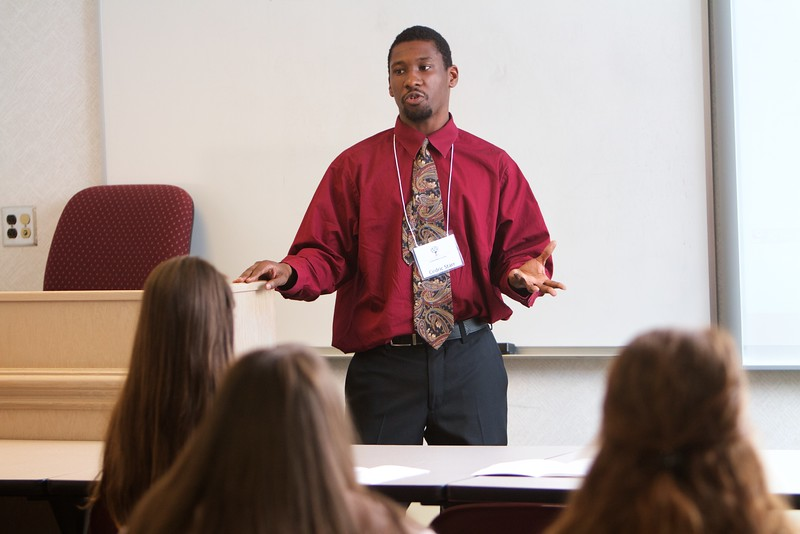 Gardner-Webb University's Life Of The Scholar (LOTS) participants present their thesis projects; Spring 2016. Cedric Starr, The Return of the Prophetic Ministry of the Western Church within the Context of Liberation Theology and the Prophets