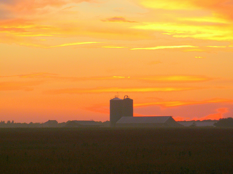 Sunset Over the Farm