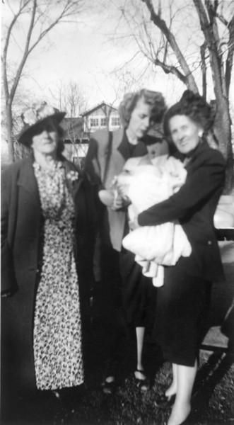 Nettie, Catherine, Sylvia, and Baby