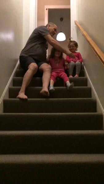 Stair bouncing..