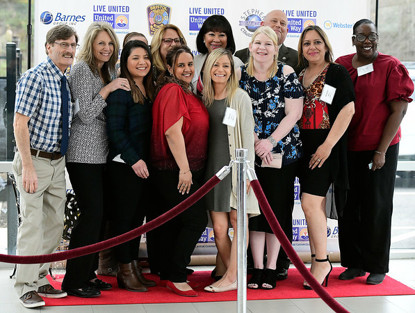 4/11/2019 Mike Orazzi | Staff Staff from the Bristol Housing Authority during Thursday evening's United Way of West Central Connecticut's 17th Annual Community Builders Reception held at the DoubleTree by Hilton in Bristol.