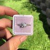 1.19ct Art Deco Carre Cut Diamond Solitaire 13