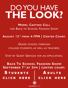 Colonie Center Back to School Fashion Show