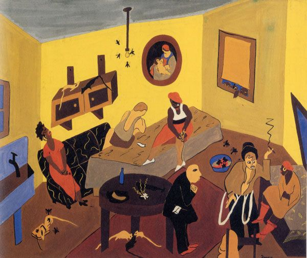 "Jacob Lawrence, ""Interior Scene"" (1937)"