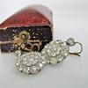 5.54ctw Edwardian Old European Cut Diamond Cluster Earrings 15