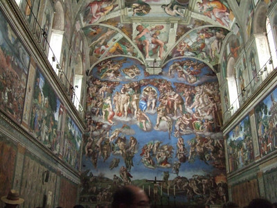 This is a stock photo of the Sistine Chapel.
