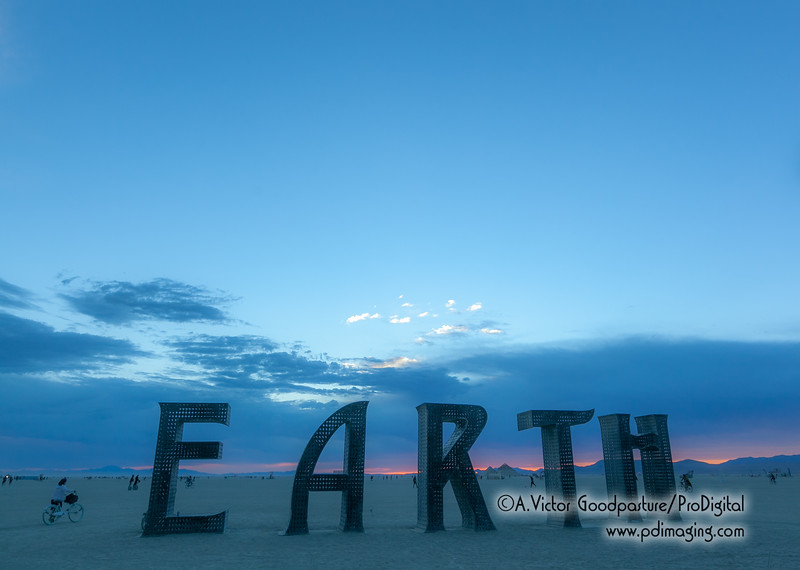 "This work is called ""@Earth #Home."" It was very popular day and night for photos."